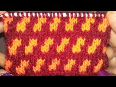 How To Make Knitting Double Color Design