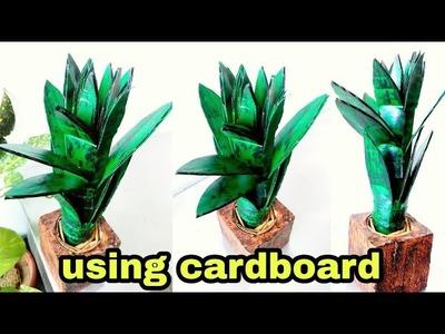 How to make leaf plant using cardboard