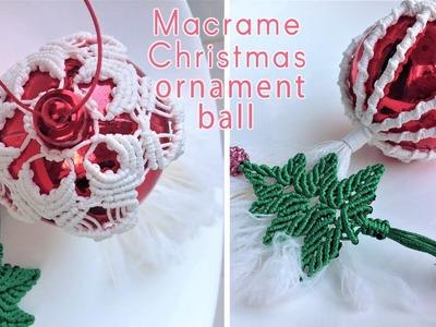 How to make macrame Christmas ornament ball cover