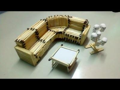 How to make matchstick sofa