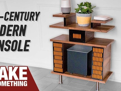 How to Make Mid-Century Modern Console. Woodworking Project