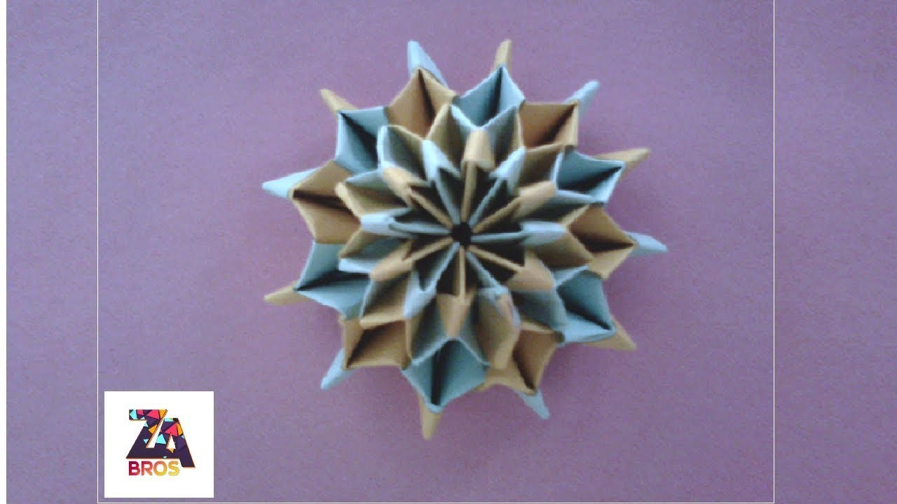 How To Make Paper Firework Origami !!!!