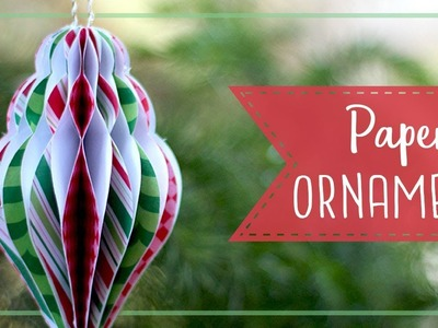 How To Make Paper Honeycomb Christmas Ornaments! ????  Craftmas
