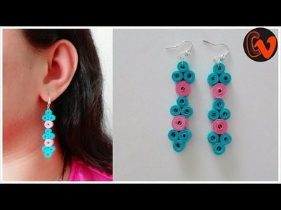 How to Make Quilling Earrings. Paper Quilling Earrings. Design 91