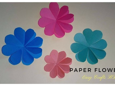 How to make :Simple and easy paper flowers tutorial: 1