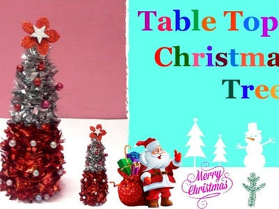 How to make Tabletop Christmas tree step by step at home| quick&easy Christmas decoration ideas-Diy