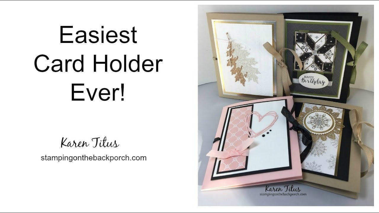 How to Make the Easiest Card Holder Ever!