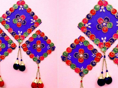 How to make wall hangings with waste material - Best out of waste wall hanging - Hanging craft ideas