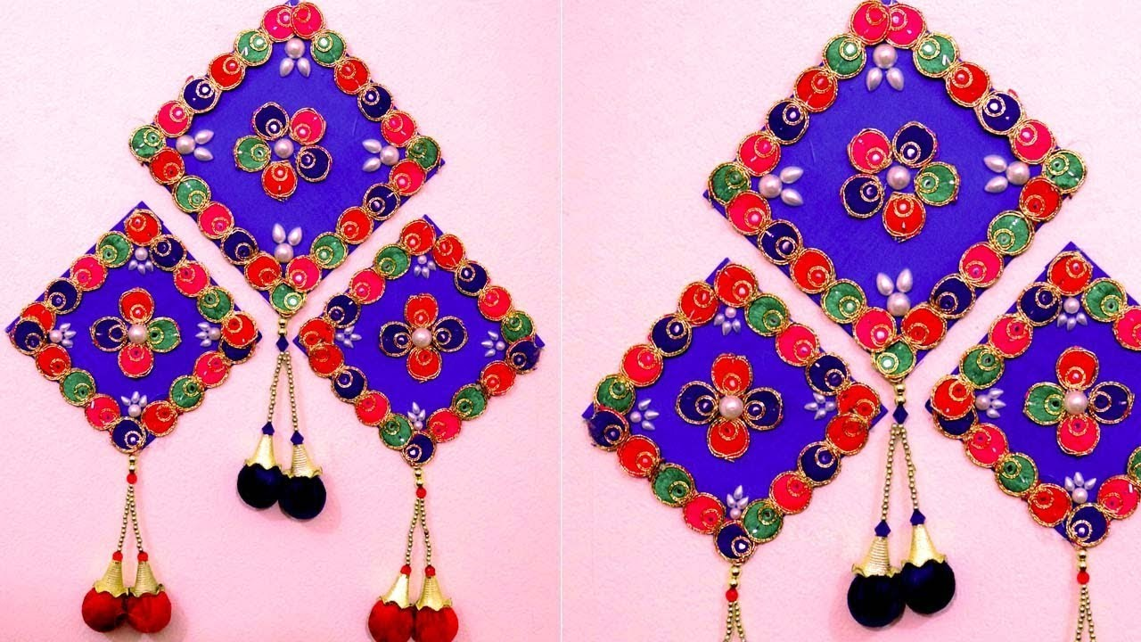 How To Make Wall Hangings With Waste Material Best Out Of Waste