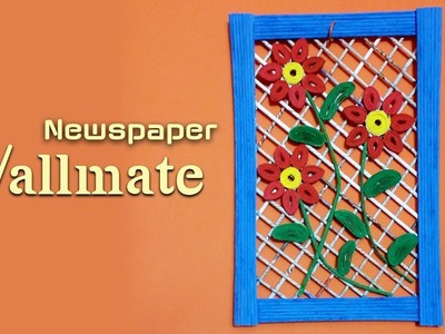 How to make wallmate with paper  - Origami wall hanging making tutorial
