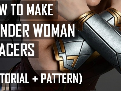How to make Wonder Woman bracer (tutorial)
