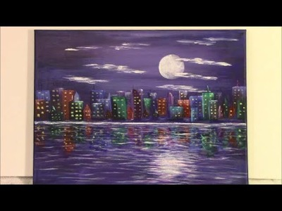 How to Paint an Easy Cityscape Abstract for Beginners and Kids ~ Part 1