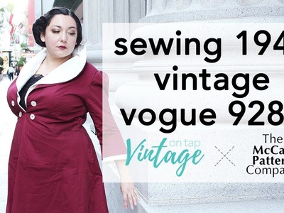 How to Sew V9280, Video Walkthrough | Vintage on Tap