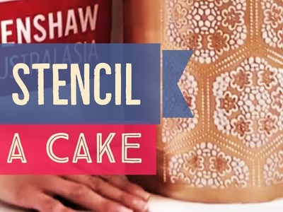 How To Stencil A Cake Using Royal Icing For An Amazing Gold Lace Pattern