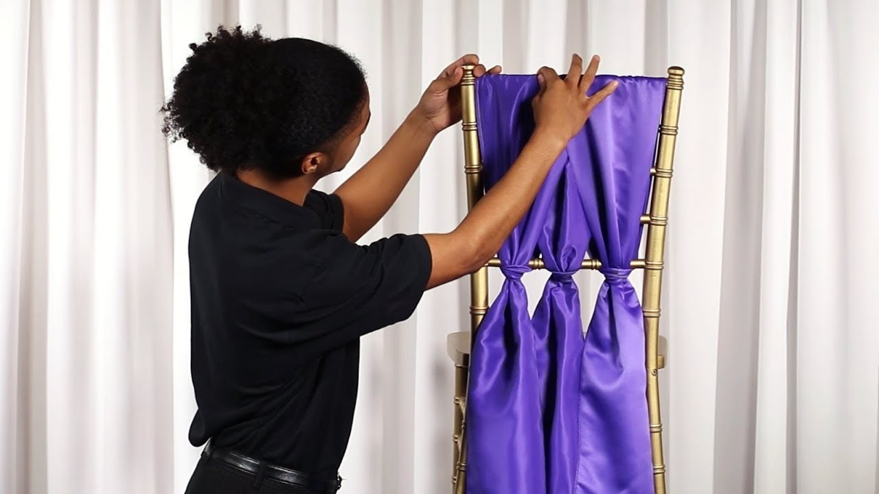 How to Tie a Cinched Chiavari Chair Sash