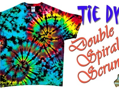 How to Tie Dye:  Double Spiral Scrunch  [Ice Dye]