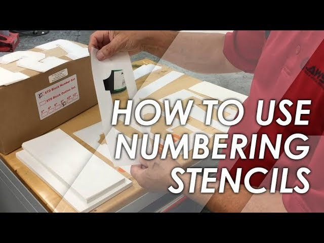 How To Use Screen Printing Numbering Stencils Introduction