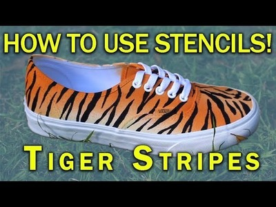 How To Use Stencils On Canvas | Tiger Stripes | Angelus Paint