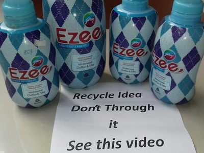 How to use waste plastic Ezee detergent bottle.waste material use idea (41)
