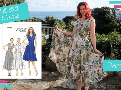 How To :: Vogue 8577 Sew-A-Long  :: Completing The Dress :: Part Six