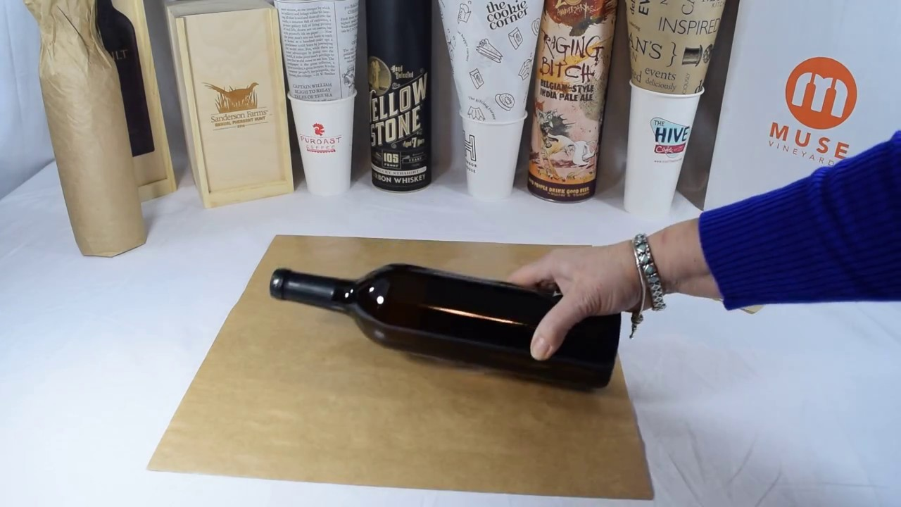 How to wrap a wine bottle By PPOVA.com