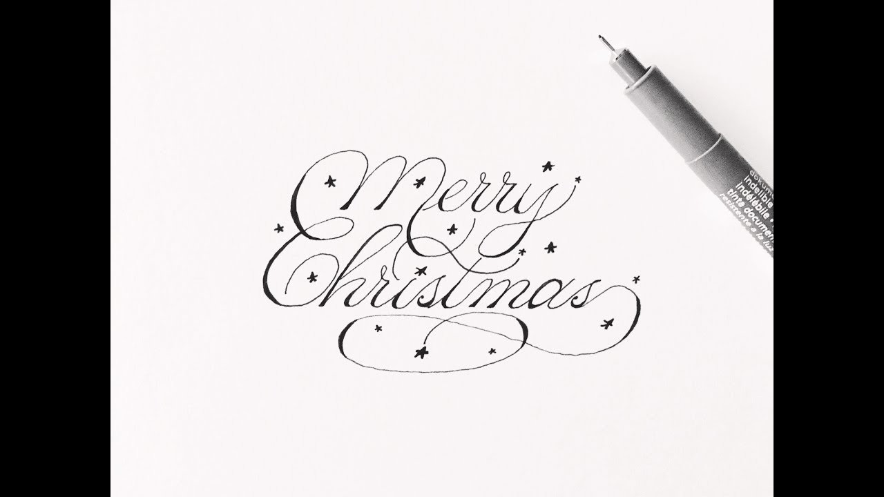 Merry Christmas In Cursive.How To Write Merry Christmas Cursive Fancy Letters For
