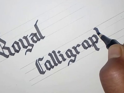 How to write royal CALLIGRAPHY. suvichar.  sulekhan with sketch pen