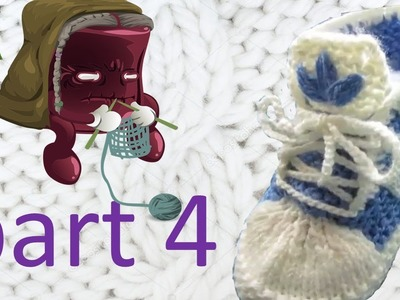 Knitting   Baby slippers Running shoes Part 4