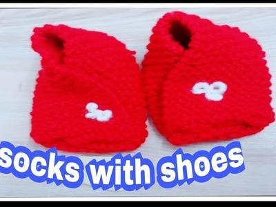 Knitting socks for ladies & baby.Baby booties.socks &sillipar knitting full tutorial in hindi