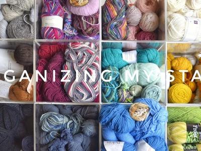 KNITTING VLOG: Yarn stash organization