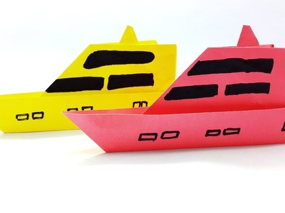 Learn Paper Steamer Boat How To Make Easy Instruction - Best Origami Tutorial