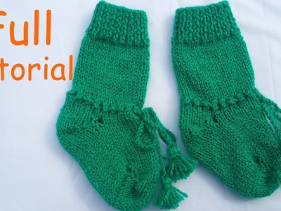 Long Socks for Babies | Full Knitting Tutorial | Hindi