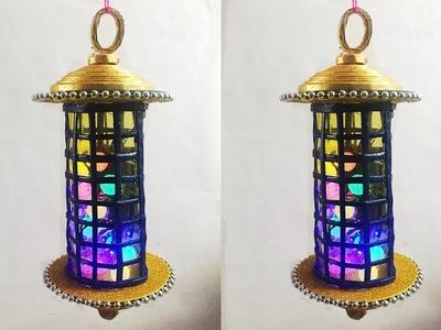Newspaper Crafts: How to make newspaper lantern