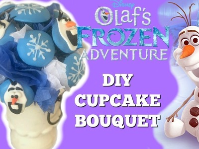OLAF'S FROZEN ADVENTUE Cupcake Bouquet & AMAZON GIVEAWAY I DIY I How to Cook, Craft & Kids