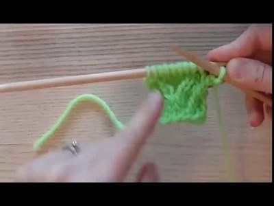 Right Twist (rt) - Knitting
