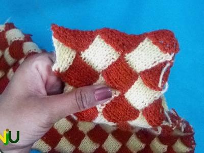 इंटरलॉक स्वेटर डिज़ाइन में फंदा किस तरह बंद करे | How to stop the loop in interlock sweater design