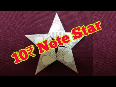 10 Rupees star Origami Tutorial   How to make Currency Origami star   Simple and Easy   Easy DIY