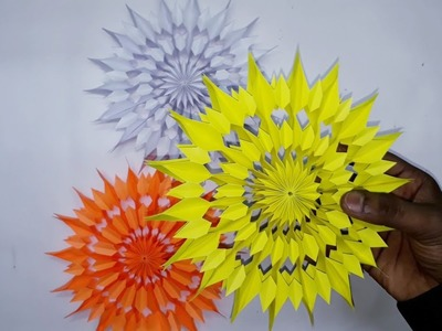 3D Paper Star for Christmas Decor | How to make a 3D Paper Xmas Star DIY Tutorial