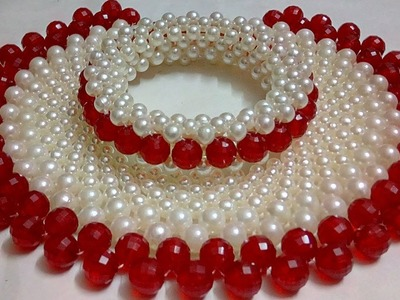 #64 How to Make Pearl Beaded Necklace || Diy || Jewellery Making