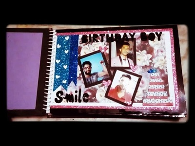 Birthday scrapbook for boyfriend with lots of love????
