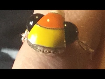 Candy Corn Ring DIY.Autumn or Halloween jewelry!