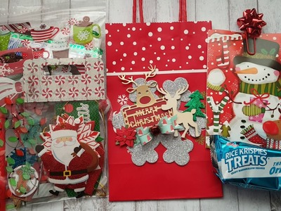 Christmas Altered Paper Bags