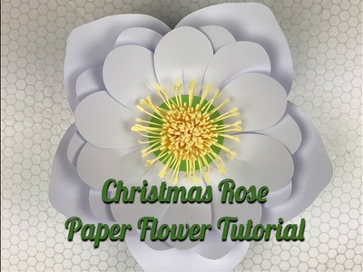 Christmas Flowers  Paper Christmas Rose   Using Template #15 & Template #17