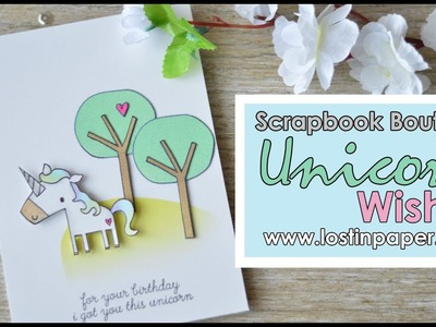 Colour with 'U'   Unicorn Wishes for Scrapbook Boutique!