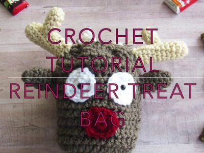Crochet Reindeer Treat Bag Tutorial