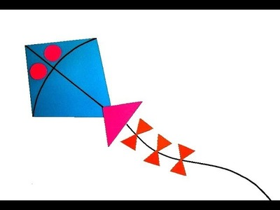 Cut And Paste Kite on Paper
