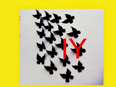 DIY -Butterflies Wall-Room Decor || How to Make Paper Butterflies || Easy paper crafts
