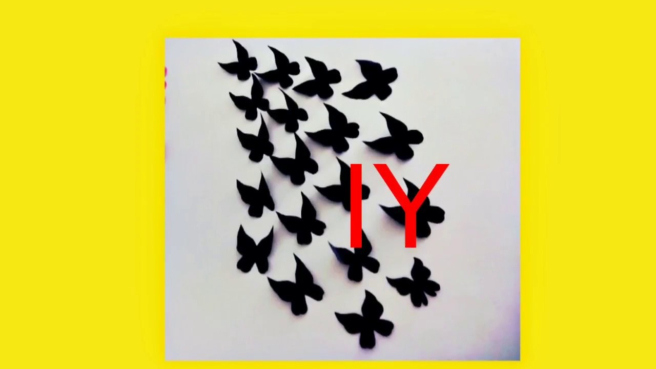 DIY -Butterflies Wall-Room Decor || How to Make Paper Butterflies ...