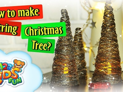 DIY by Creative Mom - How to Make perfect String Christmas Tree