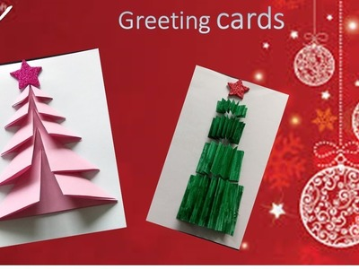 Diy christmas Greeting cards | kids crafts | handmade | christmas greeting cards easy | paper crafts